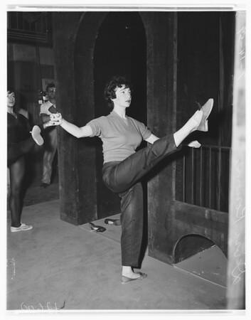 "Light Opera ""Westside Story"" rehearsal, 1959"