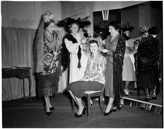 Planning Mardi Gras Ball, 1953