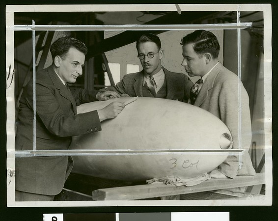 Doctors Theodore von Karman, Clark B. Millikan and Arthur L. Klein at California Institute of Technology, 1932