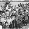 Kids' shingle boat regatta (Alondra Lake), 1956