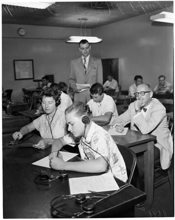 Ham radio feature, 1956
