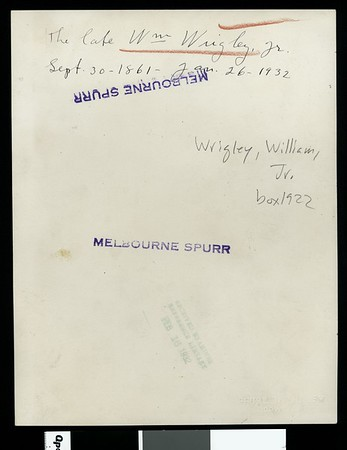 William Wrigley, Jr., ca.1930