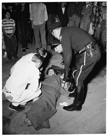 Hit-run victim (6th and Colorado Avenue, Santa Monica), 1952