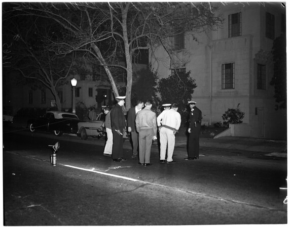 Hit and run death in 500 block on North Rossmore, 1955
