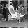 Korea flag raising at City Hall, 1960