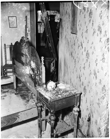Fire at 1757 North Serrano Avenue (House), 1957