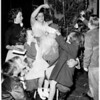 Gardena High School girls Christmas party (presents to children from Maude Booth Home), 1955