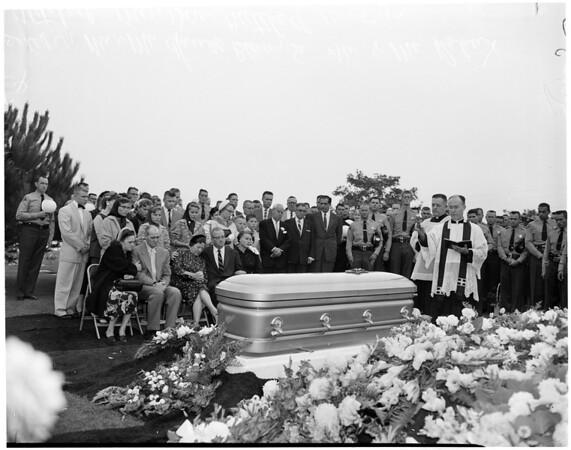 Funeral for Harold S. Blevins (officer), 1957