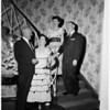 George Irvin,  Mrs. George Irvin,  Doctor Wendell Keate,  Mrs. Wendell , 1953