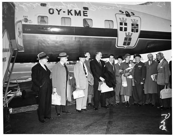 Polar flight to Scandinavia, 1952