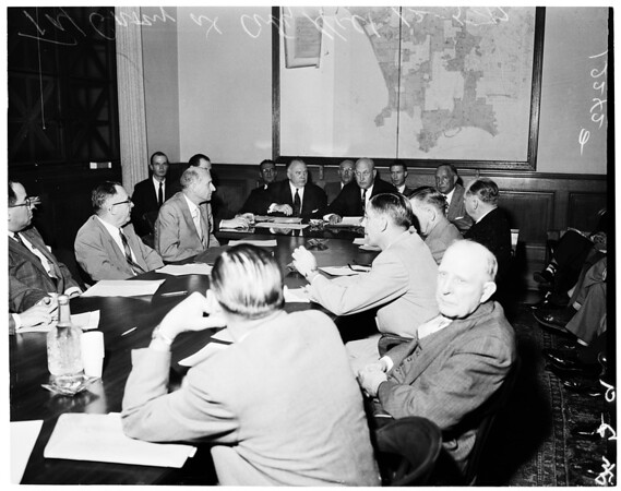 Tax group at City Hall, 1957