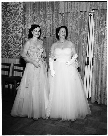 Pre-Candlelight Ball cocktail party, 1953