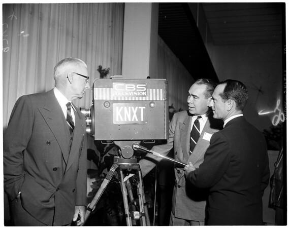 CBS Television City ribbon cutting, 1952