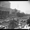 Los Angeles City pay demonstration, 1958