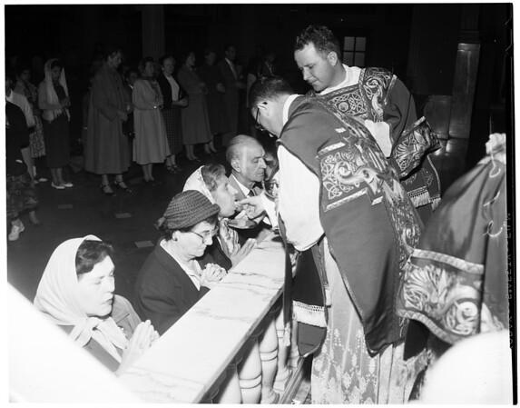 Thanksgiving at St. Vibiana's, 1956