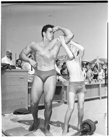 Muscle Beach summer school, 1957