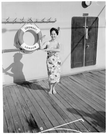 """Former """"Miss Hawaii"""", 1960"""