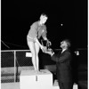 Swimming -- Examiner swim meet, 1958