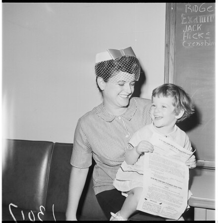 Little girl charged with tax evasion, 1961
