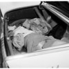 Body of Mrs. Meredith Jean Prestridge found in trunk of car in Inglewood, 1959