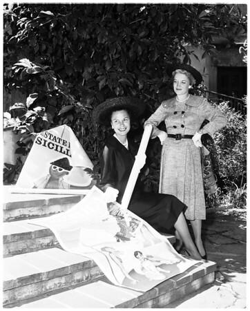 Delta Gamma benefit dinner party, 1958
