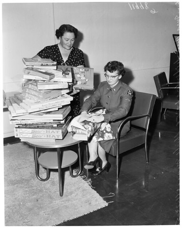 Women's Army Corps toy drive (for City of Hope), 1957