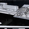 Two architectural models of the new Los Angeles County Court House and Los Angeles Civic Center, 1955