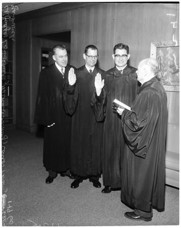New judges, 1960