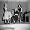 Fashion show at Corvallis High School, 1953