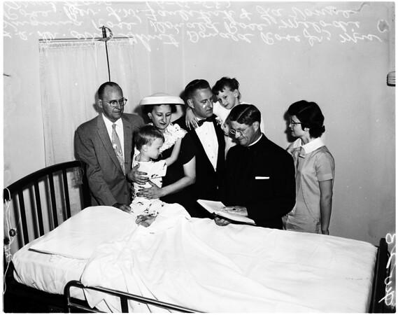 Wedding at Glendale Memorial Hospital, 1958