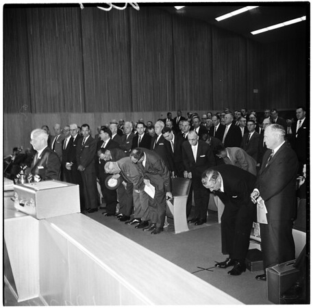 Smog hearing at Board of Supervisors, 1961.