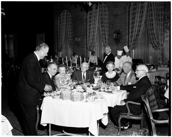 Continental dinner at Jonathan Club, 1958