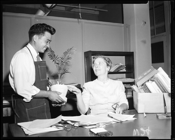 County Librarian retires, 1958