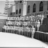 General shot of contestants, 1958