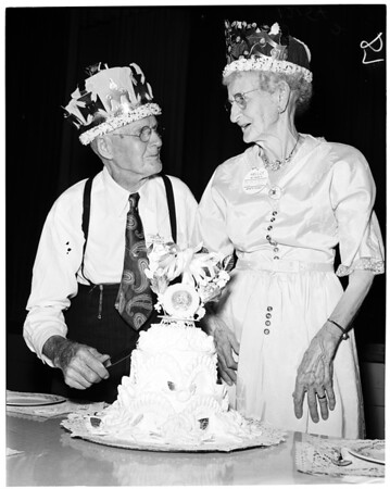 Golden wedding picnic, 1957