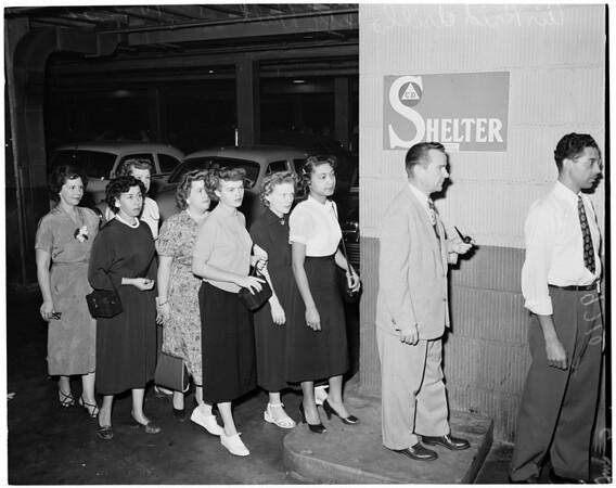Air Raid at City Hall, 1952