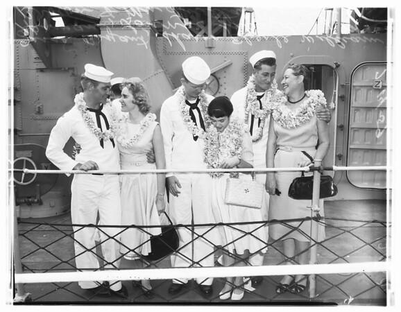 "Destroyer ""Walke"" returns, 1959"