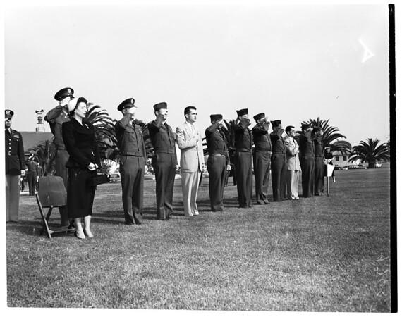 Silver Star metal presentation, 1952
