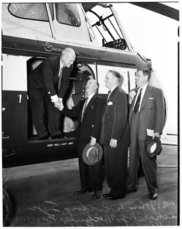 Heliport dedication, 1952