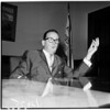 Mayor Norris Poulson (in his office), 1961