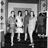 Fashion show at Ambassador Hotel, 1958