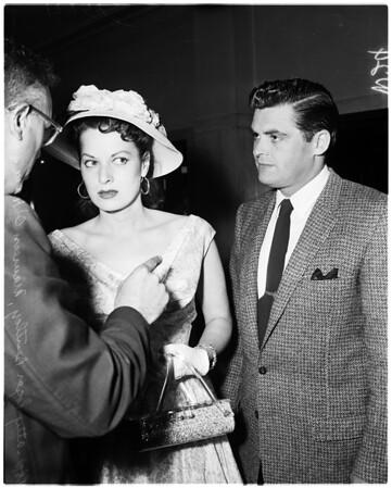 Ex-husband suit, 1958