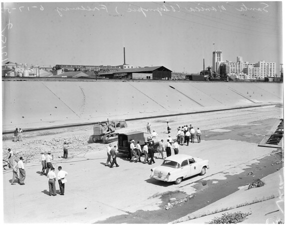 Olympic -- Santa Monica Freeway groundbreaking, 1957