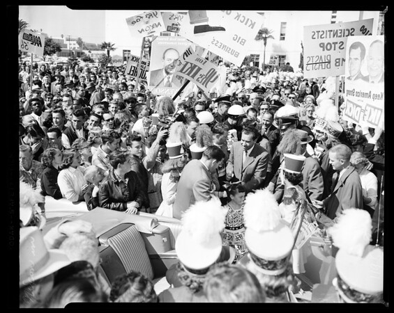 Nixon tour-Santa Monica-Panorama City and stops between, 1961