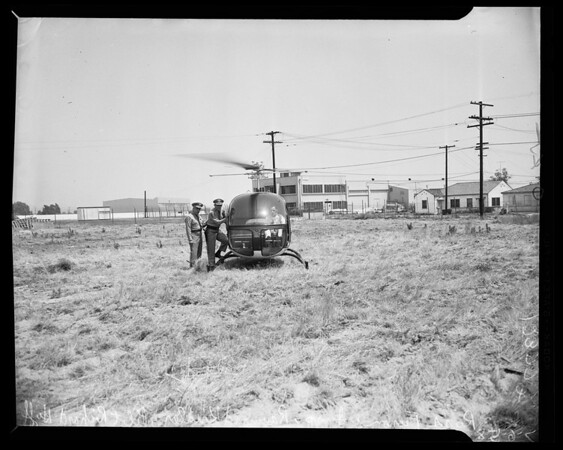California Highway Patrol helicopter, 1958