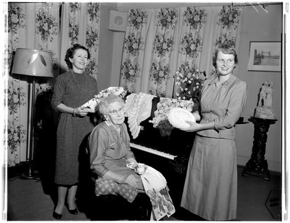 Pasadena Home for the Aged -- Auxiliary Tea, 1957