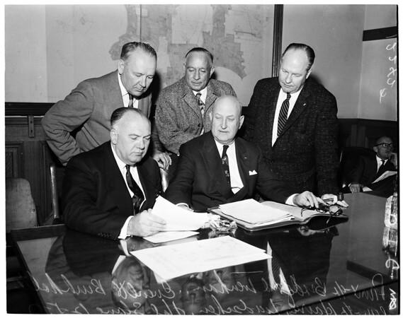 Tax group at City Hall, 1957