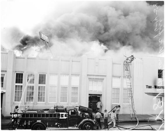 Whittier News fire, 1958