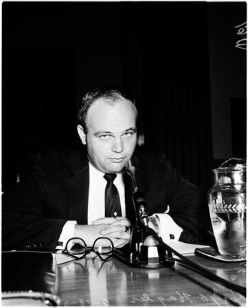 Narcotics hearing, 1958