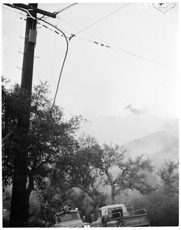 Fire in Pasadena Hills, 1961